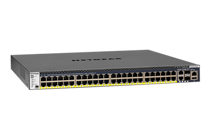 Picture of Netgear M4300-52G-PoE+ Managed Stackable 48-port Gigabit with PoE+